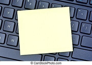notes, clavier ordinateur