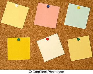 notes, coloré