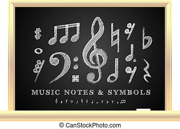 notes, musical, manuscrit