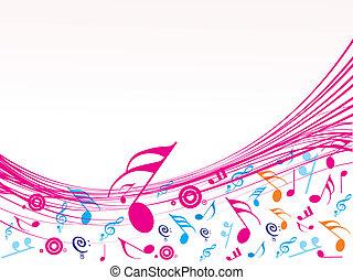 notes, musical, vague