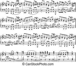 notes, musique, texture