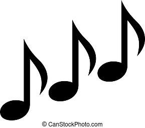 notes, musique, triple