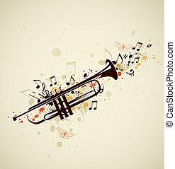 notes, trompette, résumé