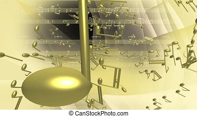 notes, voler, musical, or