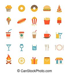 nourriture, boisson, icônes