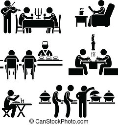 nourriture, café, boisson, restaurant