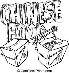 nourriture chinoise, croquis