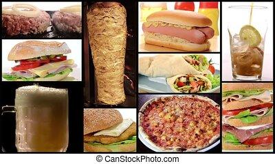 nourriture, collage, jeûne