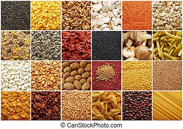 nourriture, collection, ingrédients