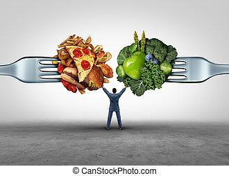nourriture, décision, santé