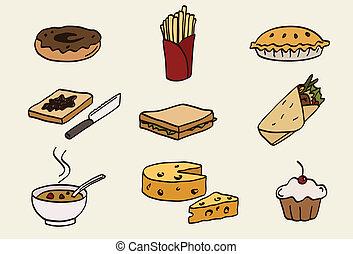 nourriture, ensemble