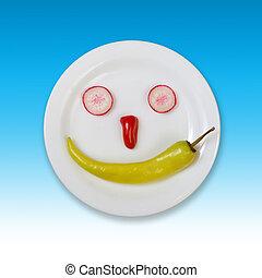 nourriture, frais, smiley