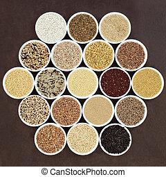 nourriture, grain, échantillonneur