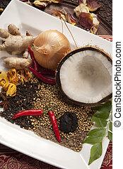 nourriture, indien, ingrédients