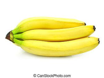 nourriture, isolé, jaune, groupe, fruits, blanc, banane