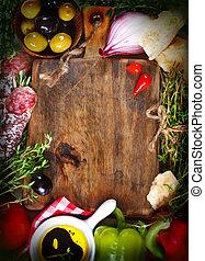nourriture., italien