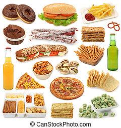 nourriture, jonque, collection