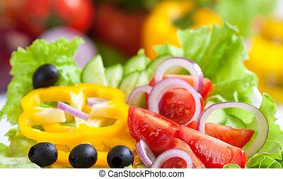 nourriture, légume, frais, salade, sain
