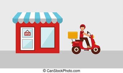 nourriture, livraison, apparenté