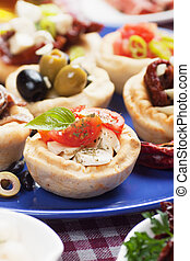 nourriture, méditerranéen, apéritif