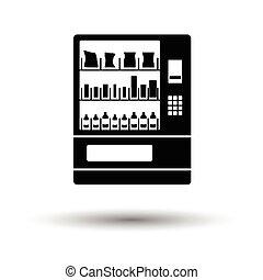 nourriture, machine, vente, icône
