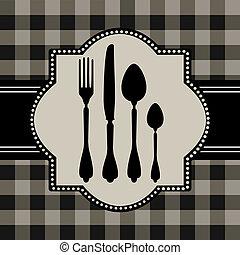 nourriture, menu, carte