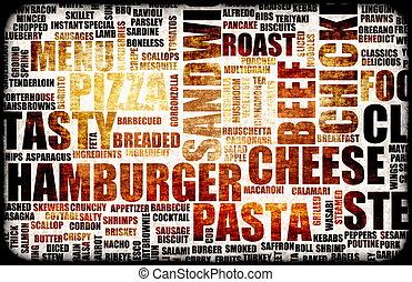 nourriture, menu