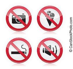 nourriture, non, interdit, cameras, sign: