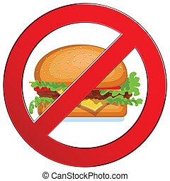nourriture, non, jeûne, étiquette