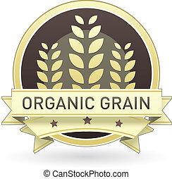 nourriture, organique, grain, étiquette