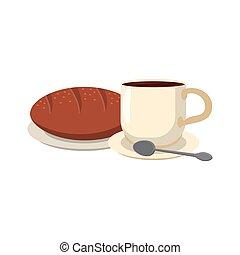 nourriture, petit déjeuner américain