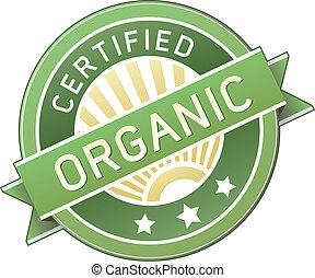 nourriture, produit, organique, ou, étiquette