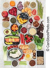 nourriture, régime, échantillonneur