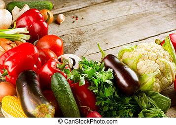 nourriture, sain, organique, vegetables., bio