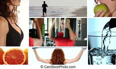 nourriture saine, fitness