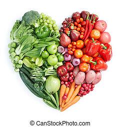 nourriture saine, rouge vert
