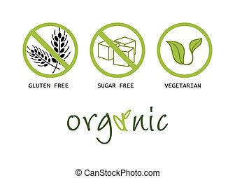 nourriture saine, symboles
