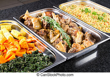 nourriture, style, buffet