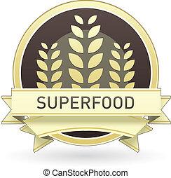 nourriture, superfood, étiquette