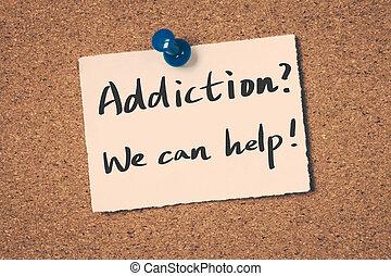 nous, addiction?, boîte, help!