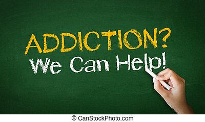 nous, aide, illustration, craie, boîte, dépendance