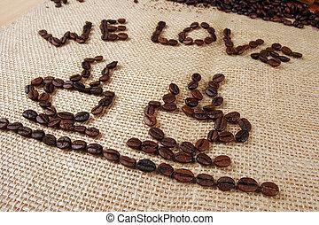 nous, amour, café