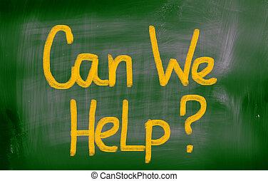 nous, concept, boîte, aide