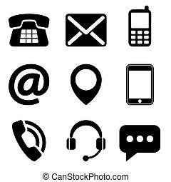 nous contacter, icônes