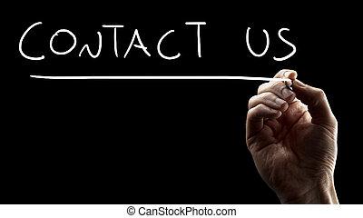 nous contacter, signe