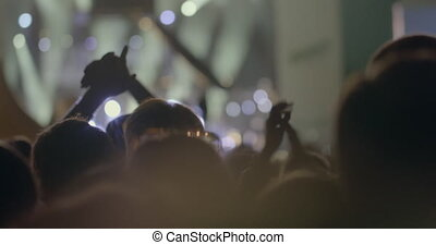 nous, groupe, concert, foule, gens, kino, tête, ensemble, musical, msu, moscou, applaudissement