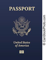 nous, passeport, cachet