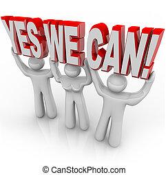 nous, reussite, -, ensemble, détermination, boîte, équipe, oui, travaux