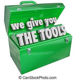 nous, service, donner, techniques, valable, boîte outils, outils, vous