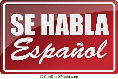 nous, signe, illustration, espagnol, parler
